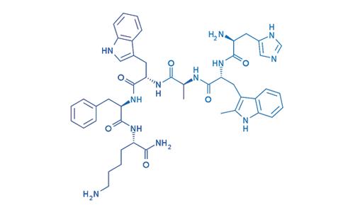 Hexarelin Estructura Quimica